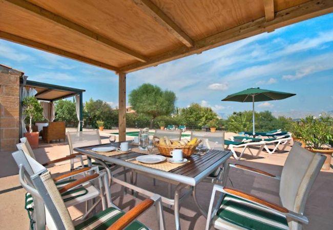 Mesa para 6 junto a la piscina