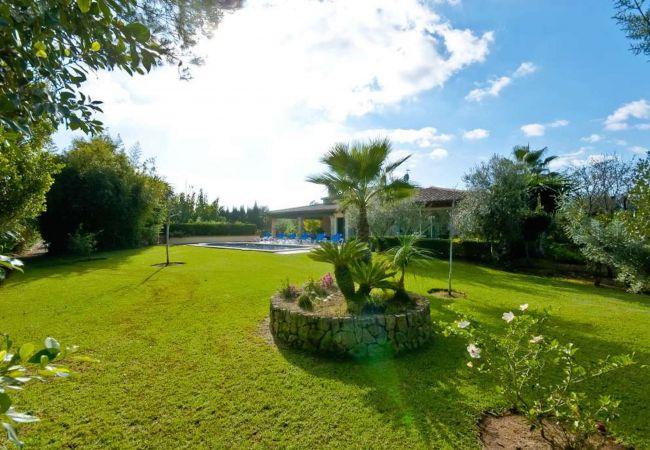 Jardín de la villa en Pollensa