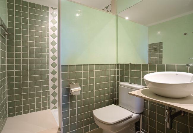 Cuarto de baño con ducha en habitación principal