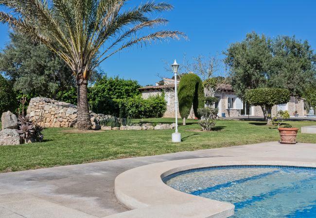 Jardines y entrada a la piscina