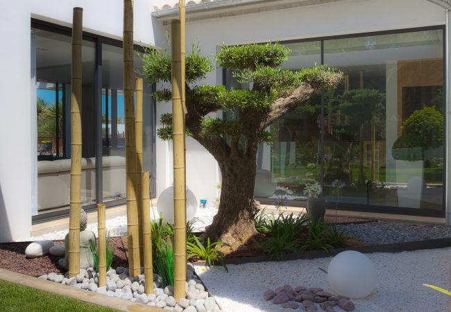 Neugieriger und schöner Garten