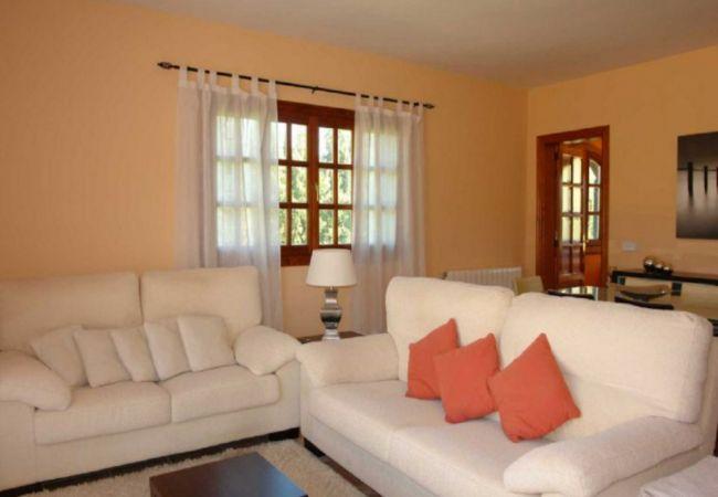 Wohnzimmer mit Heizkörpern und Klimaanlage