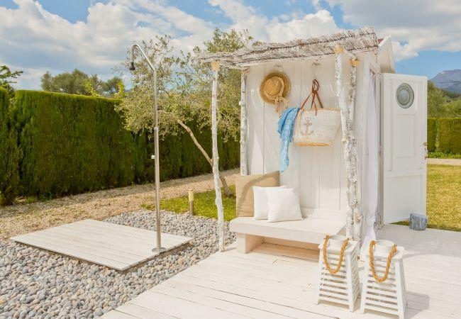 Außen-WC und dusche