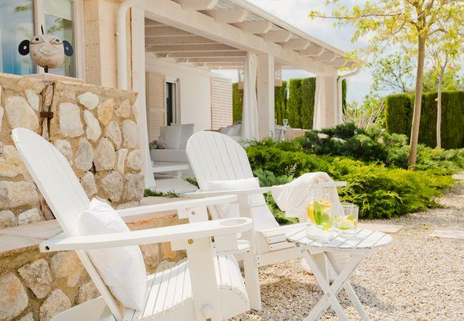 Stühle im Garten
