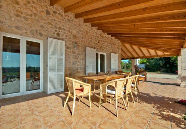 Terrasse und Tisch