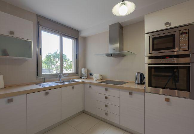Küche der Maisonette-Wohnung an der Nau in Puerto Pollensa