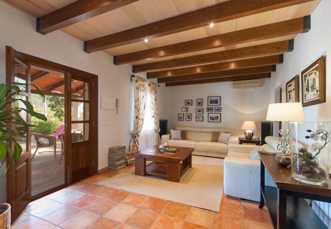 Wohnzimmer mit weißen Sofas