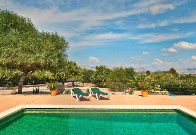 Terrasse, Pool und Aussicht