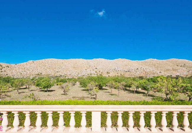 Schöne Aussicht auf die Berge, Serra de Tramuntana.