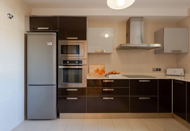 Küche in Duplex La Nau B in Puerto Pollensa ausgestattet