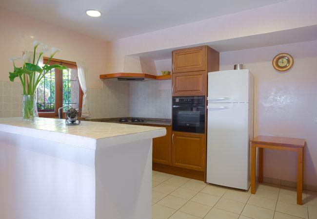 Voll ausgestattete Küche mit Frühstücksbar