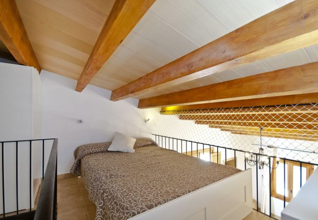 Master bedroom in loft