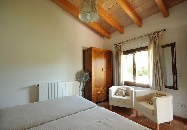Bedroom with electric radiators