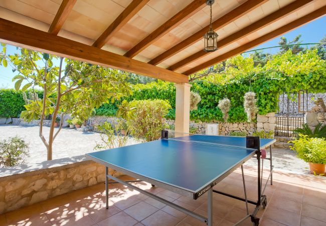 Table tennis on the terrace