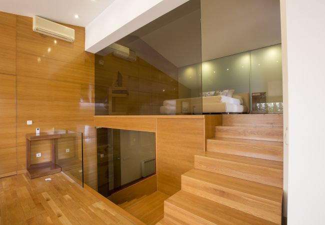 Master bedroom on two levels