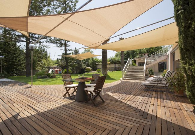 Terrace with awnings