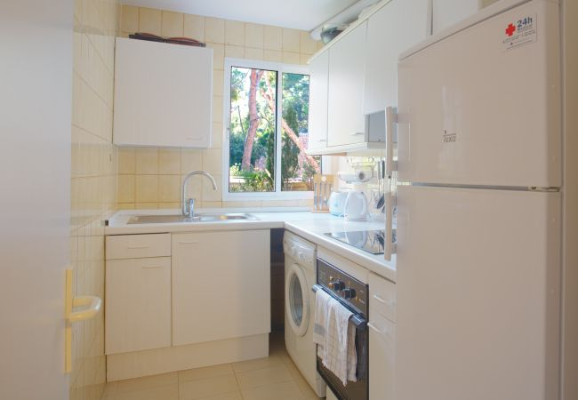 Equipped kitchen and washing machine