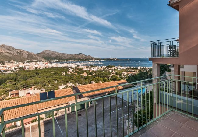 Views of the bay of Pollensa from the terrace